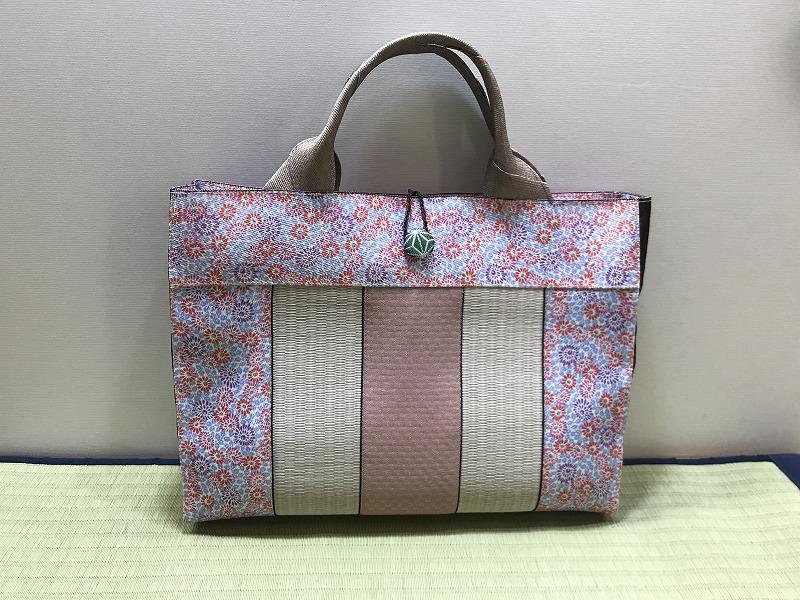 縁と畳表のバッグ��2
