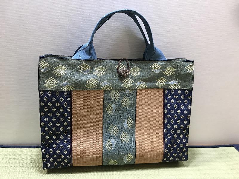 縁と畳表のバッグ��3