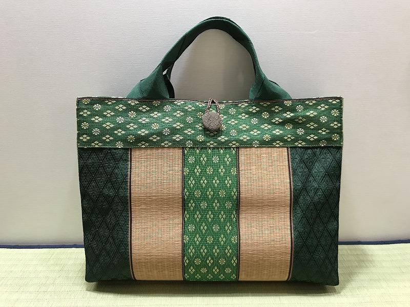 縁と畳表のバッグ��5