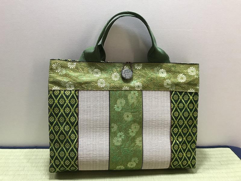 縁と畳表のバッグ��7