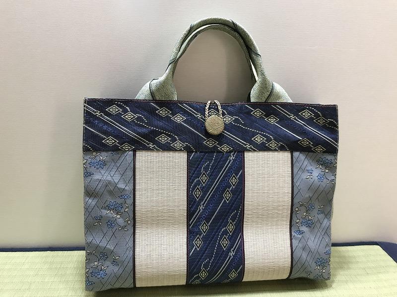 縁と畳表のバッグ��6