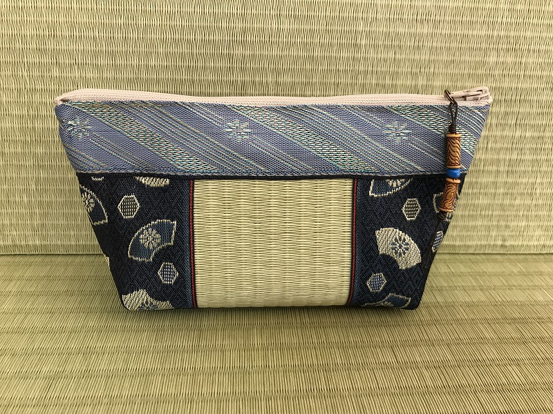 縁と畳表のポーチ ��1
