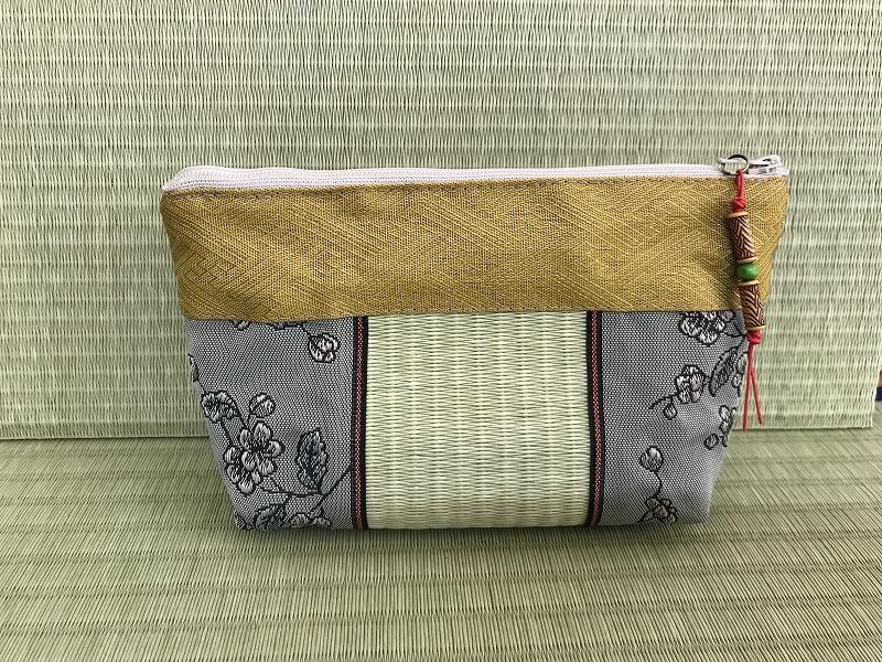 縁と畳表のポーチ ��5