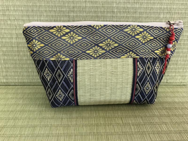 縁と畳表のポーチ ��2
